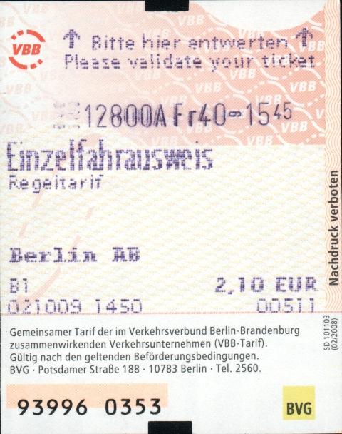 Bvg Ab Ticket